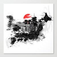 Abstract Tokyo-Shinjuku/… Canvas Print