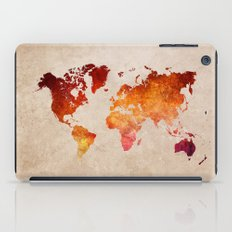 Red World Map iPad Case