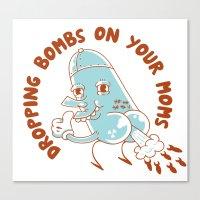 Droppin' Bombs Canvas Print