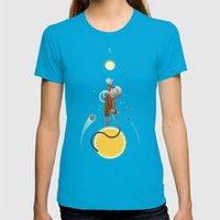 Space Is The Place Womens Fitted Tee Teal SMALL
