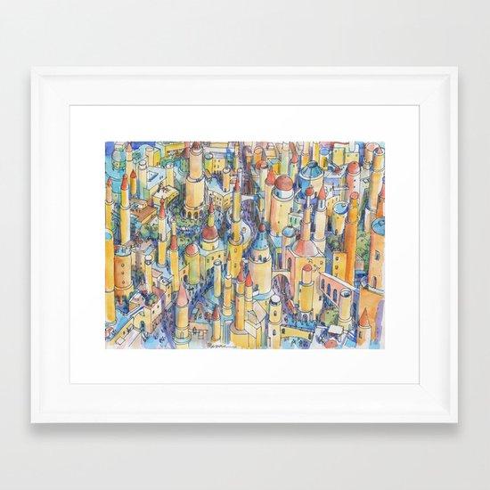 Citta' di fantasia Framed Art Print