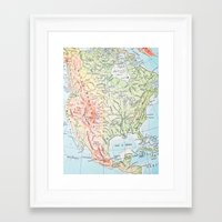 sweet land of liberty Framed Art Print