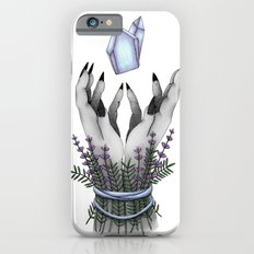 crystal hands colored iPhone 6 Slim Case