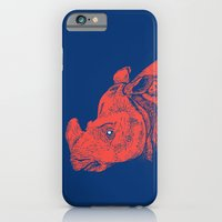 iPhone Cases featuring Red Rhino by Andrew Henry