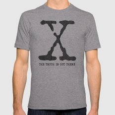 X-Files Poster Mens Fitted Tee Athletic Grey SMALL