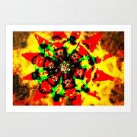 Tribal Colors Art Print