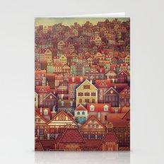 Cute City Street Scene ,… Stationery Cards