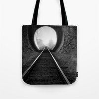 Train Track Tote Bag