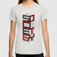S6 Tee Womens Fitted Tee Silver SMALL