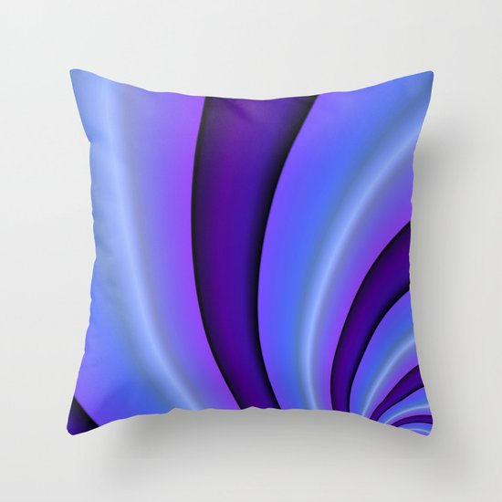 Purple Twist Throw Pillow