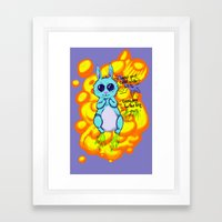 Evil Little Bunny Framed Art Print