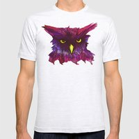 The Disapproving Owl... Mens Fitted Tee Ash Grey SMALL