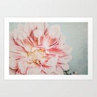 Pink Blush Flower Art Print