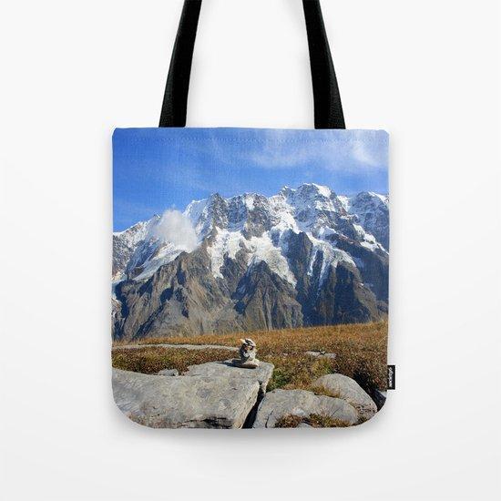 Trail Blazing the Alps Tote Bag