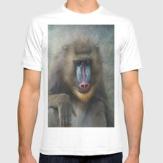 Mandrill Mens Fitted Tee White SMALL
