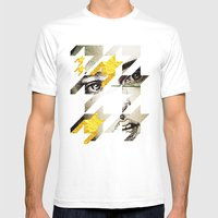 Maze Hound Mens Fitted Tee White SMALL