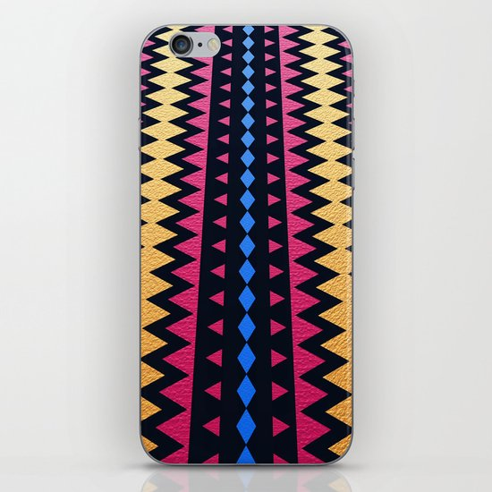 Aztec Pattern with Textured Appearance iPhone & iPod Skin