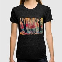 Woods Womens Fitted Tee Tri-Black SMALL