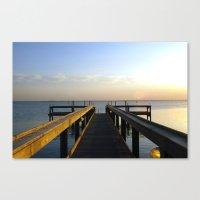 sittin' on the dock Canvas Print