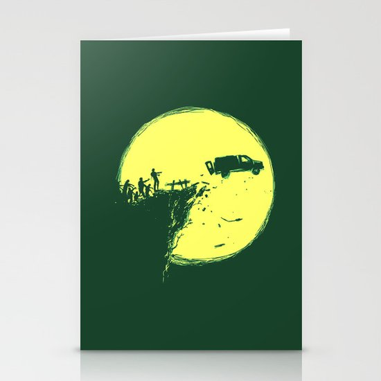Zombie Invasion Stationery Card