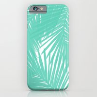 iPhone & iPod Case featuring Palms Seafoam by Caitlin Workman