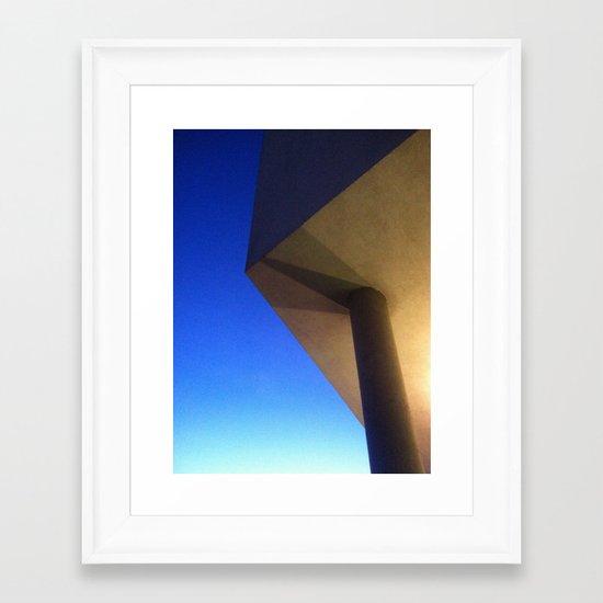 The sky has corners Framed Art Print