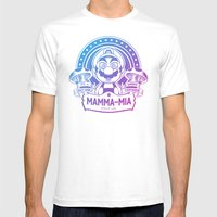 Mamma Mia Super Mario Is… Mens Fitted Tee White SMALL