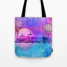 Train In The Space Tote Bag