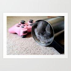 Gamer Bunny Art Print