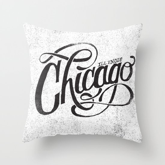 CHICAGO, IL Throw Pillow