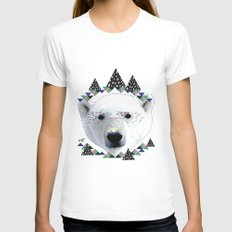 Folk bear Womens Fitted Tee White SMALL