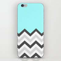 Color Blocked Chevron 16 iPhone & iPod Skin
