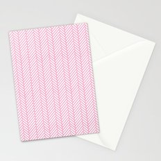 Herringbone Pink Stationery Cards