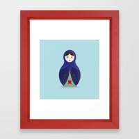 MATRYOSHKAS SERIES - OLESYA Framed Art Print