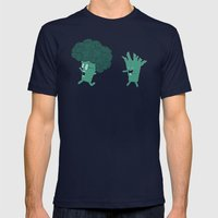 So Many Brains! Mens Fitted Tee Navy SMALL