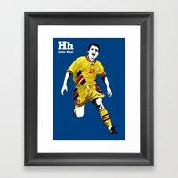 H Is For Hagi Framed Art Print