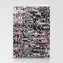 Comfortable Ambiguity (P/D3 Glitch Collage Studies) Stationery Cards
