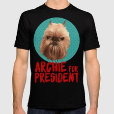 Archie for President Mens Fitted Tee SMALL Black