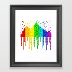 Crying Mountains Framed Art Print