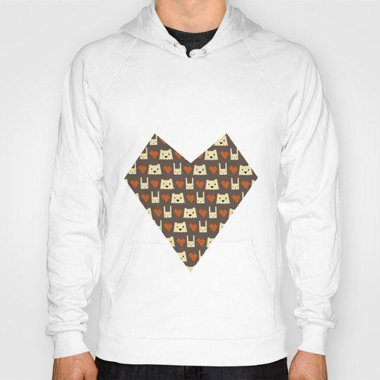 Yeti hearts bunny pattern Hoody