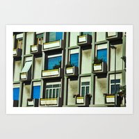 City Balconies Art Print