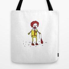 Sad Ronald McDonald In A Field Tote Bag