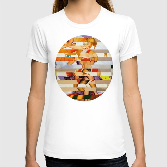 Glitch Pin-Up: Amber T-shirt