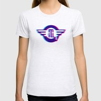 Metro Illusions - 3D Womens Fitted Tee Ash Grey SMALL