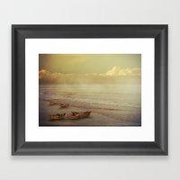 Paper Boats Framed Art Print