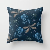 Insects Pattern #1 Throw Pillow
