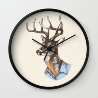 Lucienne the crying deer (with tattoos) Wall Clock
