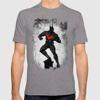Beyond the dark night Mens Fitted Tee Tri-Grey SMALL