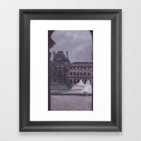 A Peek Out the Louvre Framed Art Print