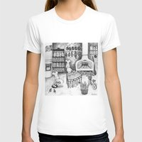 Baking Cats Womens Fitted Tee White SMALL
